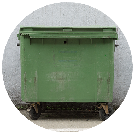Keep dumpter lids close